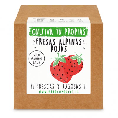 kit semillas fresas rojas